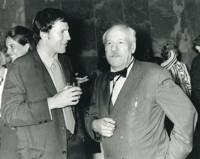 Newman in conversation with Robert Murray at the opening 
