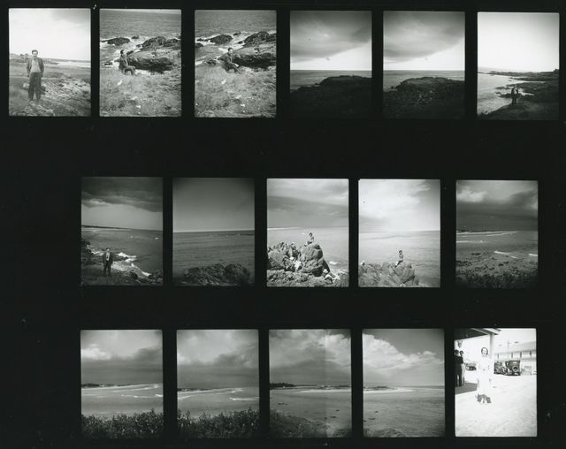 Photos taken during Barnett and Annalee Newman's honeymoon at Ogunquit, Maine, possibly by Aaron Siskind, 1936