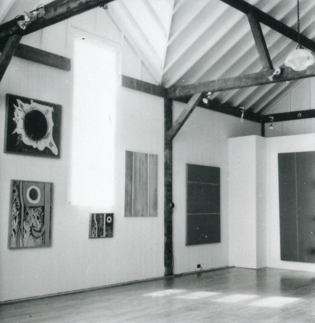 View of Newman's exhibition at Bennington College, Vermont, 1958. Photo by Matthew Tarnay