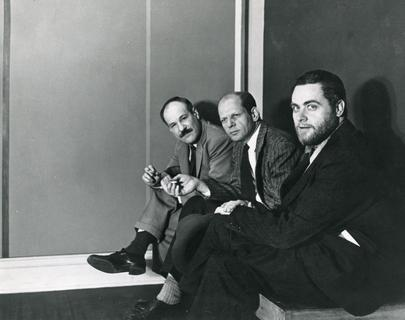 Barnett Newman, Jackson Pollock, and Tony Smith, 1951. Photograph by Hans Namuth. © 1991 Hans Namuth Estate