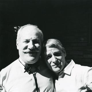 Newman and William de Kooning at the Sculls' in Great Neck, Long Island