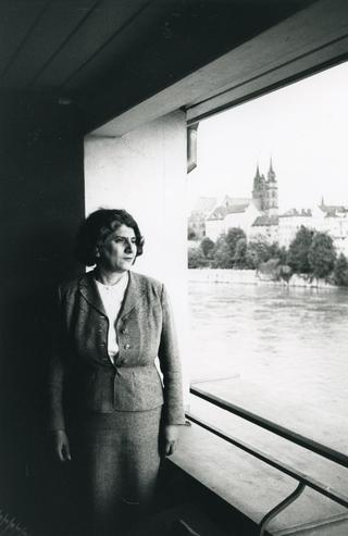 Annalee Newman at the Hotel Krafft, Basel, 1964