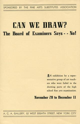 Exhibition announcement, 1938