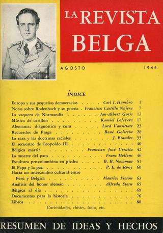 Cover of magazine including Spanish translation of Newman's article on Pre-Columbian stone sculpture, 1944
